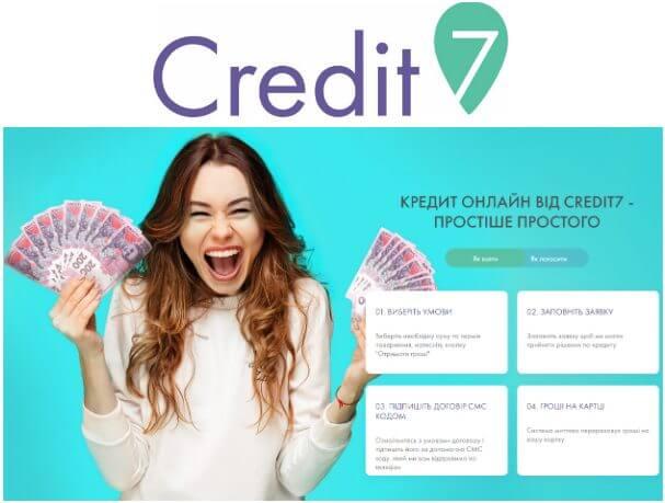 Оформить онлайн кредит в Credit7