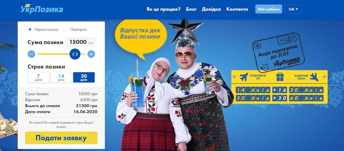 Оформить онлайн кредит в UkrPozyka